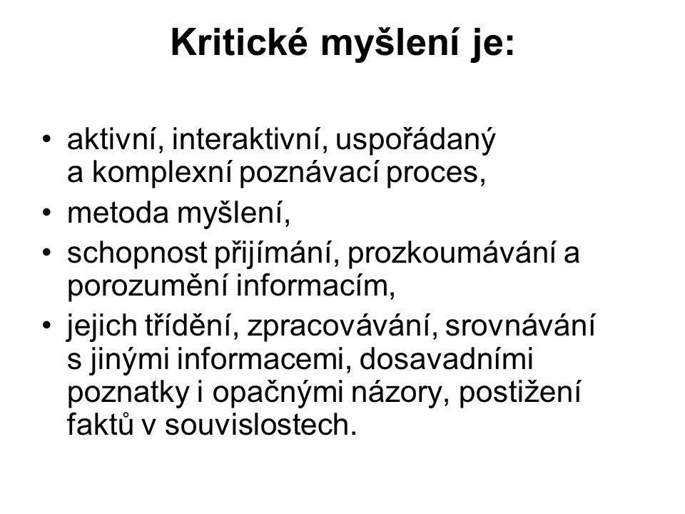 Literatura, zdroje: publikace: Grecmanová, H., Urbanovská, E.