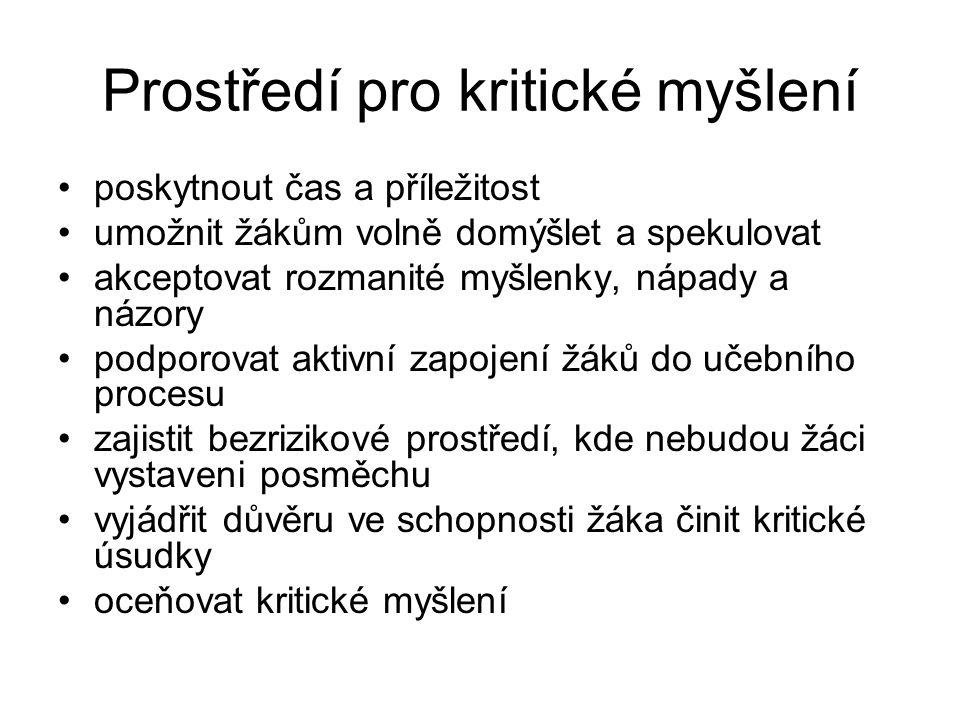 Metodika pro seminář : Kritické myšlení pro učitele Autorka : Doc.PhDr.