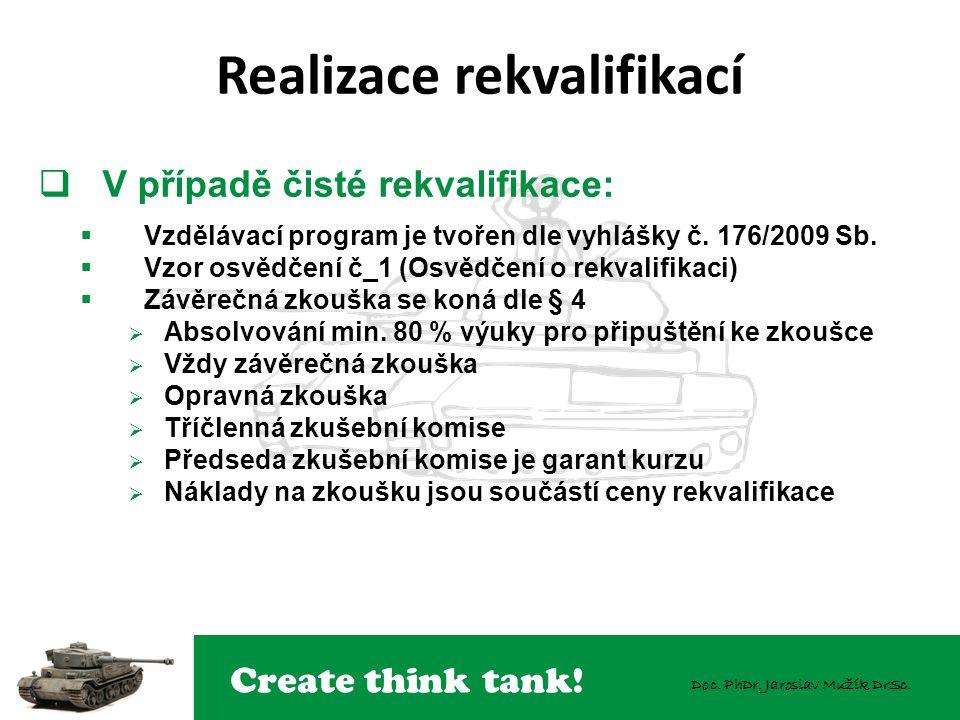 Create think tank! Doc. PhDr. Jaroslav Mužík DrSc.  V případě čisté rekvalifikace:  Vzdělávací program je tvořen dle vyhlášky č. 176/2009 Sb.  Vzor