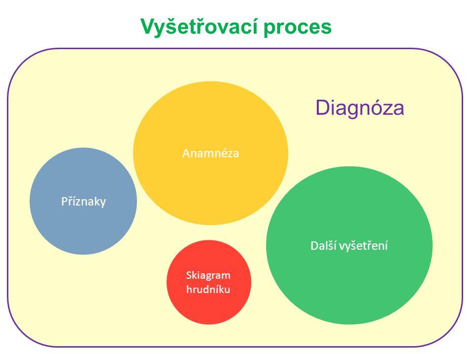 Vyšetřovací proces Příznaky Anamnéza Skiagram hrudníku Další vyšetření Diagnóza