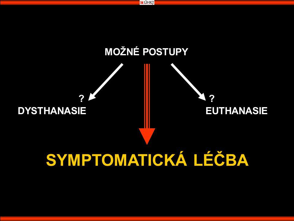 MOŽNÉ POSTUPY DYSTHANASIEEUTHANASIE SYMPTOMATICKÁ LÉČBA