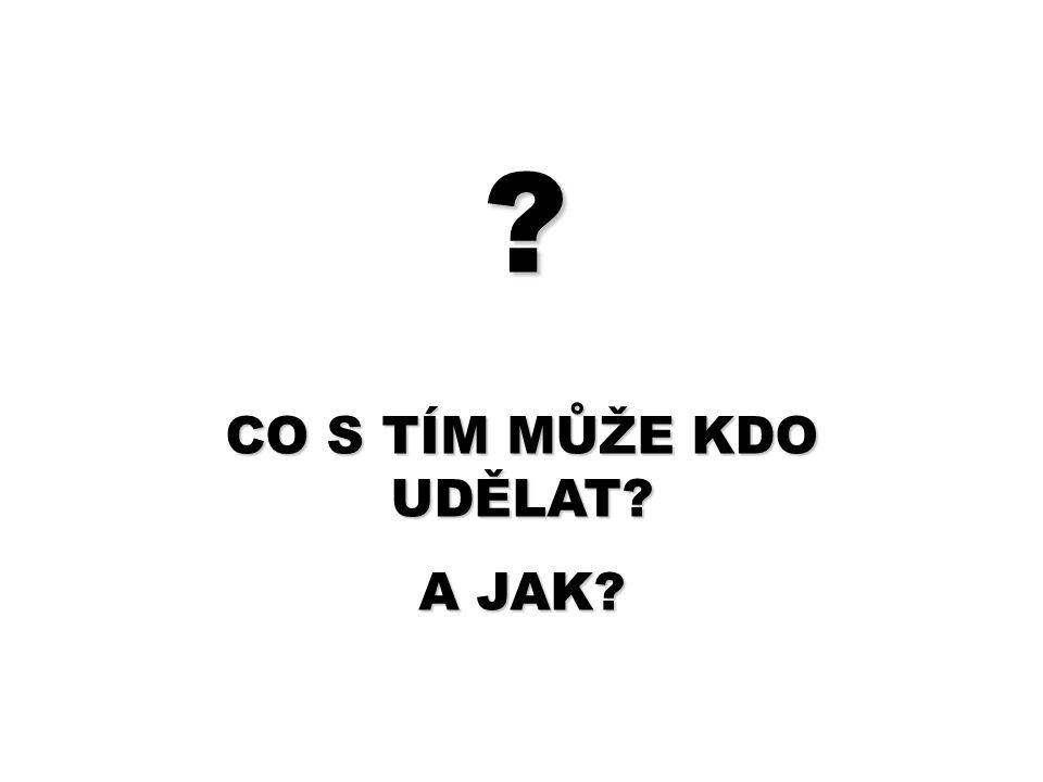 ? CO S TÍM MŮŽE KDO UDĚLAT? A JAK?