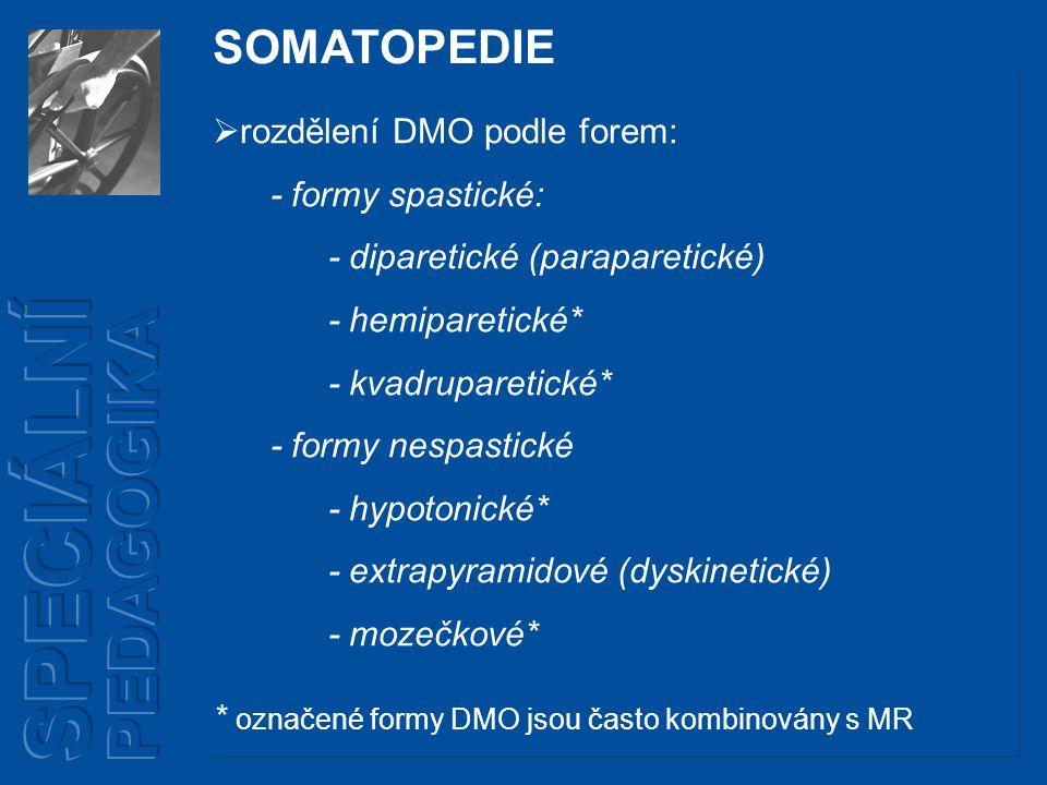 SOMATOPEDIE Diparetická forma DMO