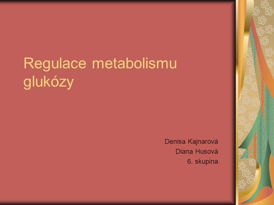 Regulace metabolismu glukózy Denisa Kajnarová Diana Husová 6. skupina