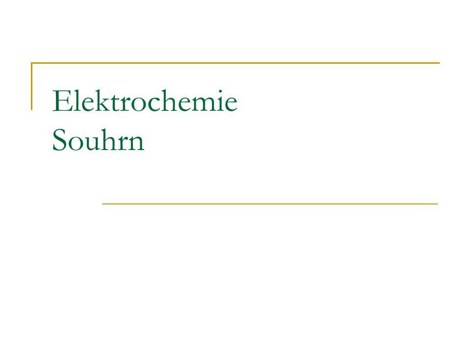 Elektrochemie Souhrn