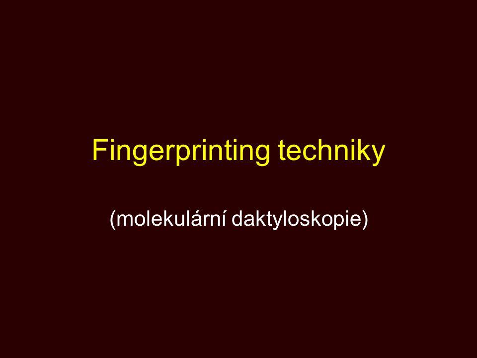 Nevýhody protein fingerprinting Méně znaků Znaky mohou být selekčně významné Možnost ovlivnění i prostředím Materiál méně stabilní