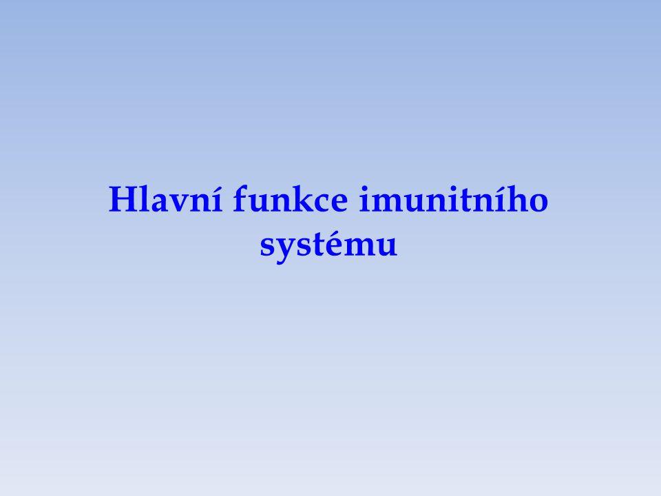 Hlavní funkce imunitního systému