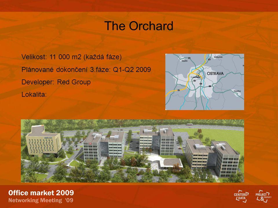The Orchard Velikost: 11 000 m2 (každá fáze) Plánované dokončení 3.fáze: Q1-Q2 2009 Developer: Red Group Lokalita: