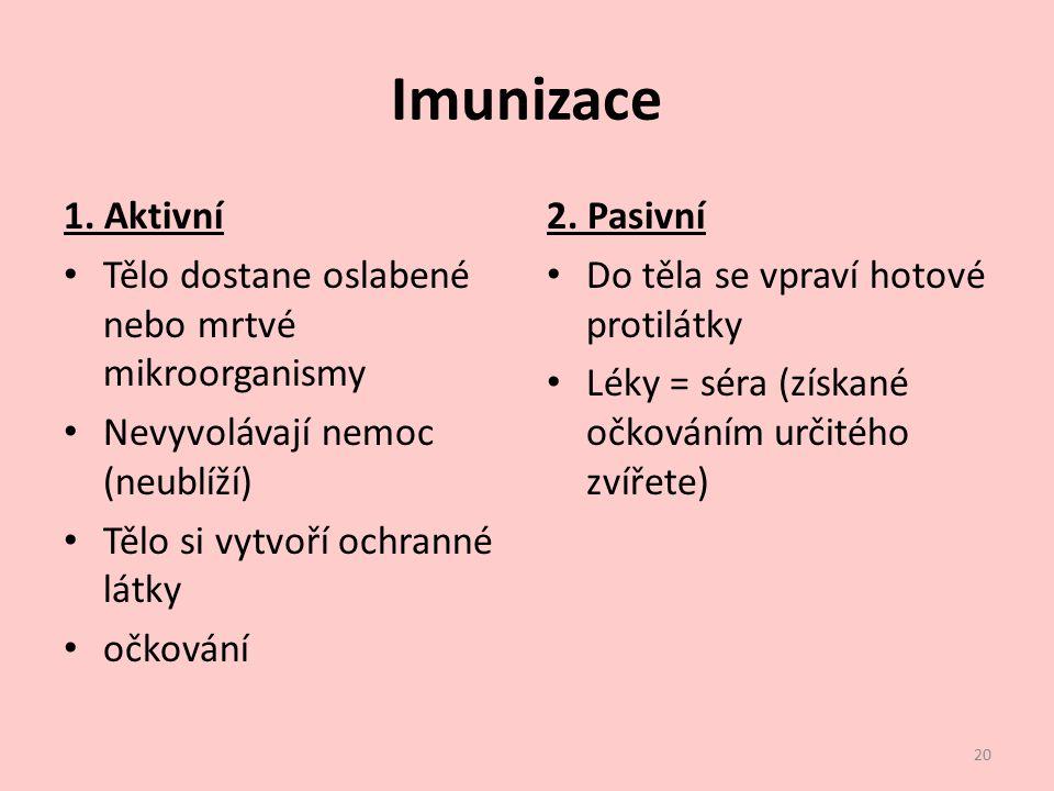 Imunizace 1.