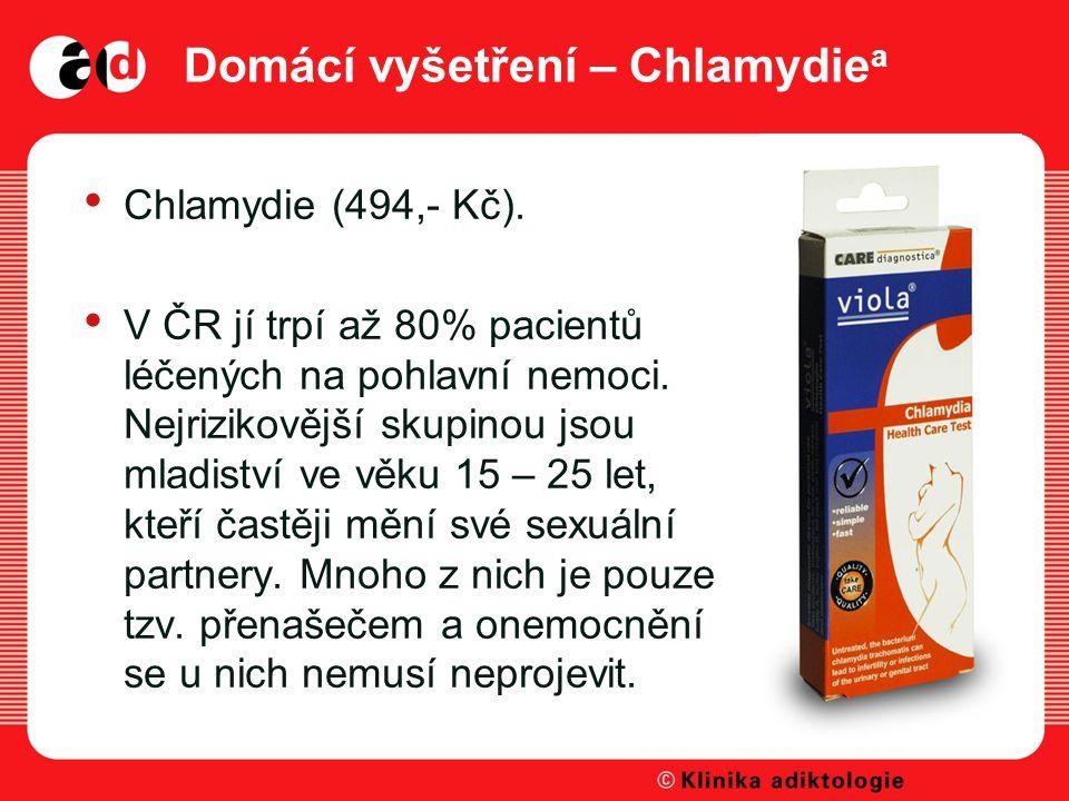 Domácí vyšetření – Chlamydie a Chlamydie (494,- Kč).