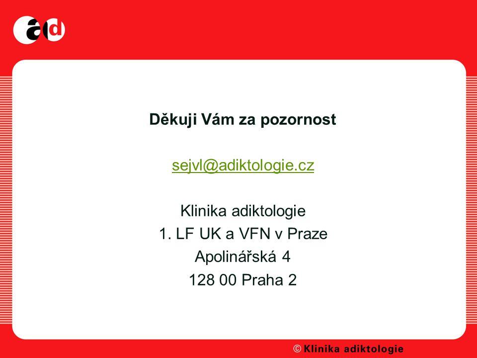 Děkuji Vám za pozornost sejvl@adiktologie.cz Klinika adiktologie 1.