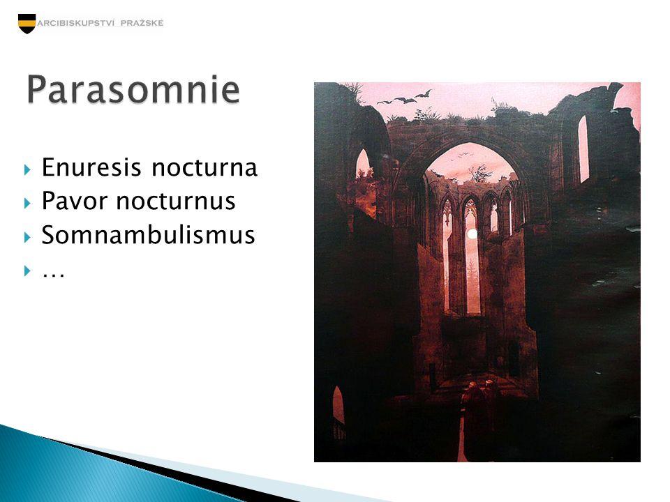  Enuresis nocturna  Pavor nocturnus  Somnambulismus ……