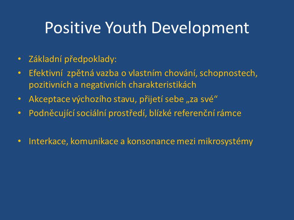 Základní předpoklady: Efektivní zpětná vazba o vlastním chování, schopnostech, pozitivních a negativních charakteristikách Akceptace výchozího stavu,