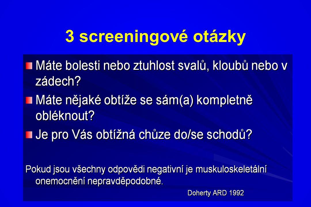 3 screeningové otázky