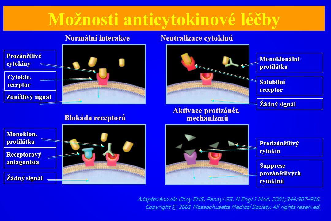 Adaptováno dle Choy EHS, Panayi GS. N Engl J Med. 2001;344:907–916. Copyright © 2001 Massachusetts Medical Society. All rights reserved. Možnosti anti