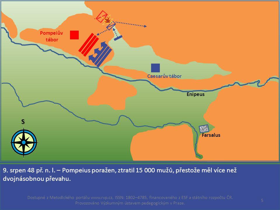 Enipeus Farsalus Caesarův tábor Pompeiův tábor S 9.