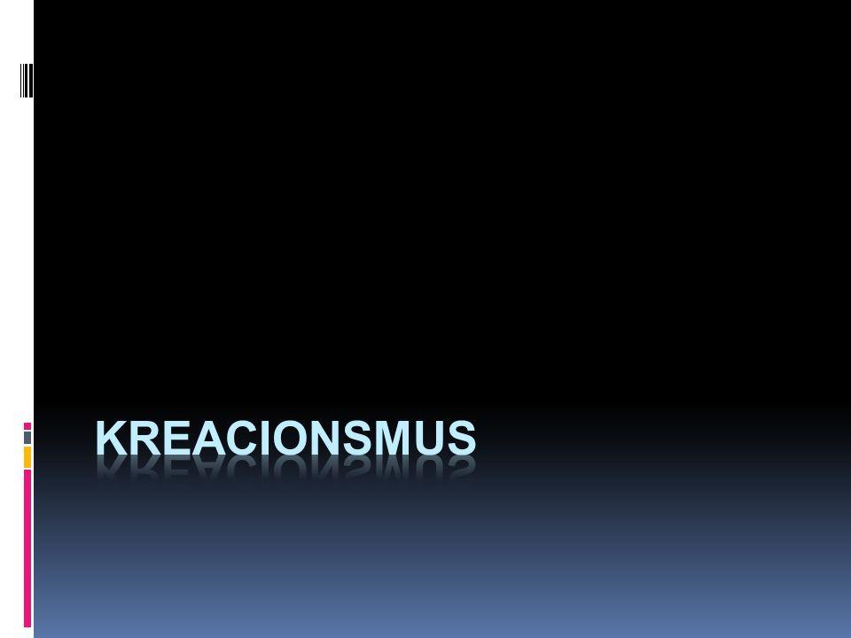 """Kreacionismus  """"Ortodoxní kreacionismus = kreacionismus mladé Země:  Země je stará cca 6 000 (10 000) let  Gen 1 je popis události  evoluce neprobíhá  organismy byly přímo a v současné podobě zázračně stvořeny Bohem  fosílie jsou pozůstatky utopených organismů z biblické potopy, které se Noemu nevešly na loď"""