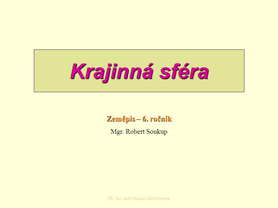 Krajinná sféra Zeměpis – 6. ročník Mgr. Robert Soukup ZŠ, Týn nad Vltavou, Malá Strana