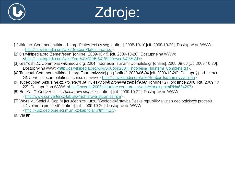 Zdroje: [1] Jklamo. Commons.wikimedia.org: Plates tect cs.svg [online]. 2008-10-10 [cit. 2009-10-20]. Dostupné na WWW:.http://cs.wikipedia.org/wiki/So