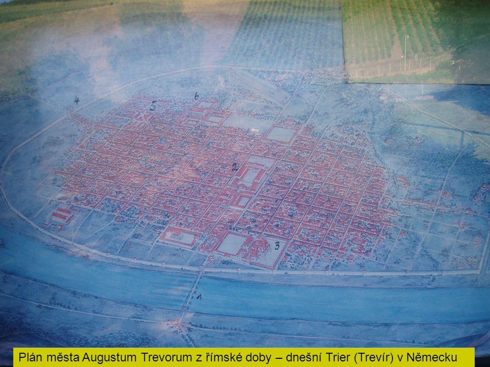 Plán města Augustum Trevorum z římské doby – dnešní Trier (Trevír) v Německu
