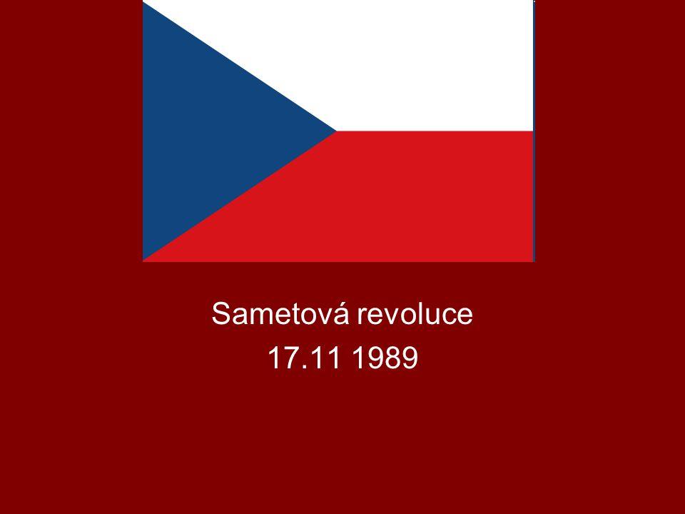 Sametová revoluce 17.11 1989
