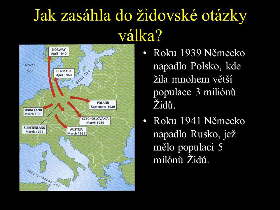 Roku 1938 se útoky nacistů změnili v násilnější, když Himmler dal pokyn ke Křišťálové noci 11. 11. 1938. Do roku 1939 poloviny z 500,000 německých Žid