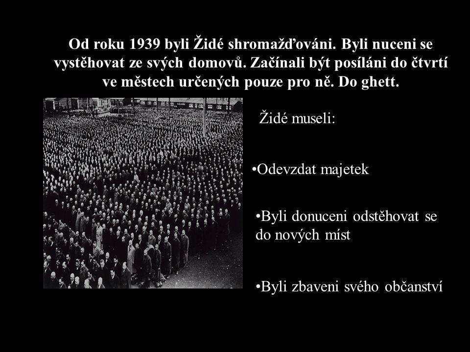 Jak zasáhla do židovské otázky válka? Roku 1939 Německo napadlo Polsko, kde žila mnohem větší populace 3 miliónů Židů. Roku 1941 Německo napadlo Rusko