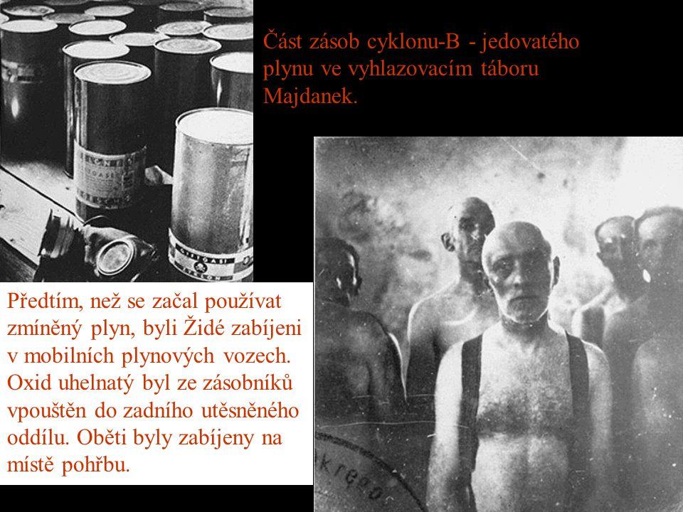 Zničení skrze práci Stejná skupina Židů po šesti týdnech.