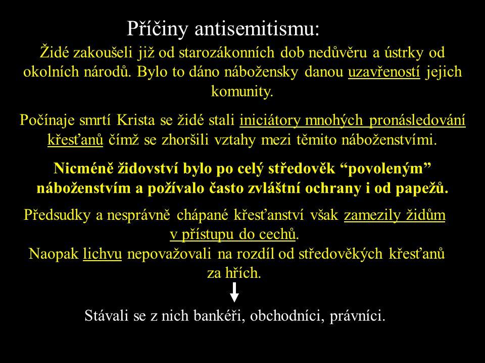 Antisemitismus je termín označující politickou, sociální a ekonomickou agitaci proti Židům. Zjednodušeně znamená: nenávist k Židům Árijská rasa je jmé
