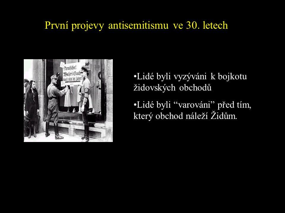 Židé byli OBĚTNÍ BERÁNEK Po První světové válce byli židé obvinění z porážky Německa. Předsudky vůči bohatým Židům vzrostly během Velké hospodářské kr