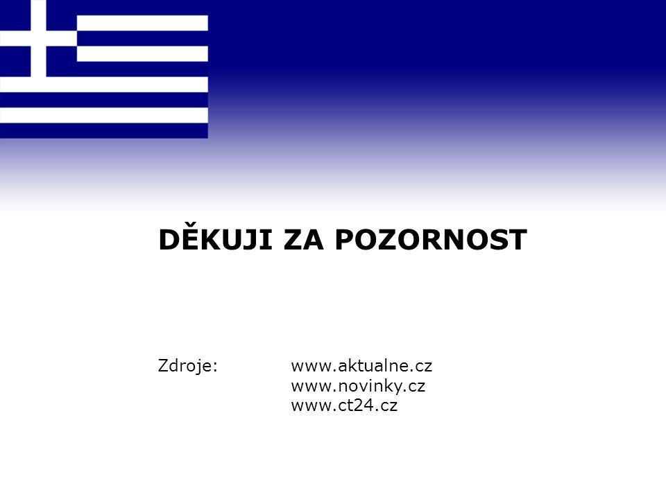 DĚKUJI ZA POZORNOST Zdroje:www.aktualne.cz www.novinky.cz www.ct24.cz