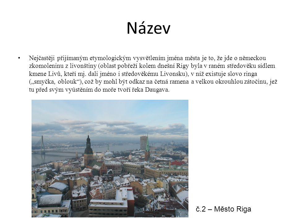 Název Nejčastěji přijímaným etymologickým vysvětlením jména města je to, že jde o německou zkomoleninu z livonštiny (oblast pobřeží kolem dnešní Rigy