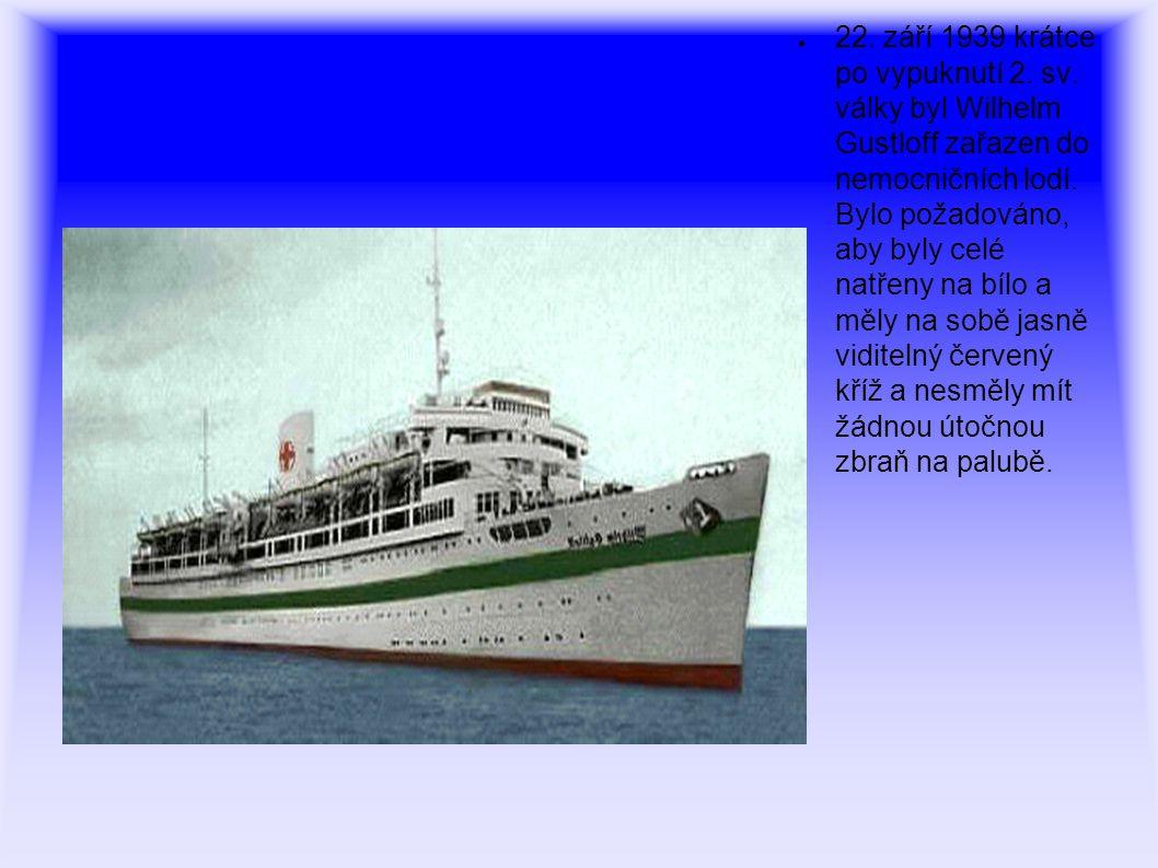 ● Později byl přesunut do Gotenhafenu, aby sloužil jako kasárenská loď pro ponorky.