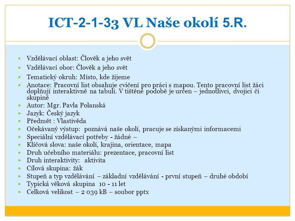 ICT- 2 - 1 - 3 3 VL Naše okolí 5.R.