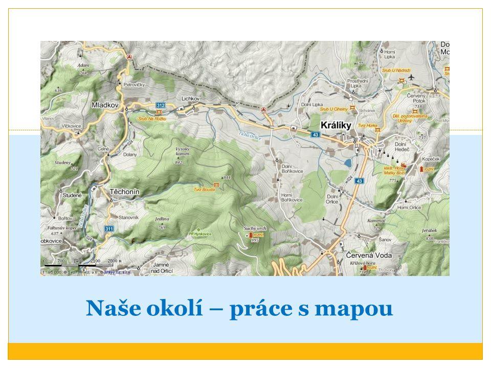 Naše okolí – práce s mapou