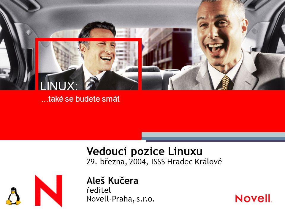 Obsah Proč byste měli uvažovat o Linuxu Linuxový trh – poptávka a vývoj na trhu Ekosystém Linux Bezpečnost Náklady na vlastnictví Co dělá Novell.