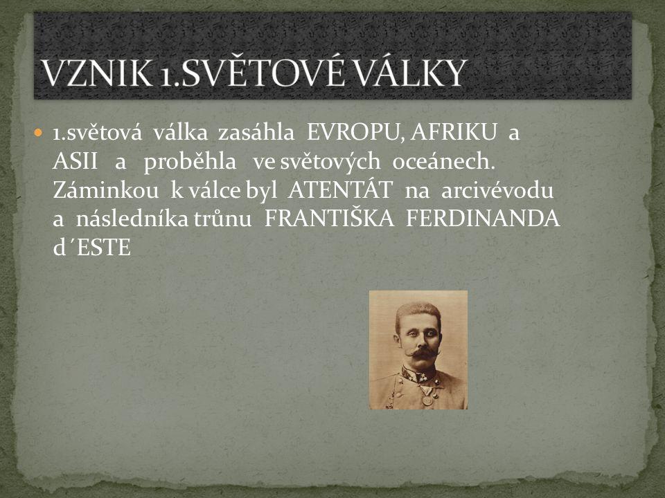 NĚMECKO odvetou vyhlásilo válku SRBSKU,čímž vyvolalo řetězovou reakci vedoucí ke světové válce.