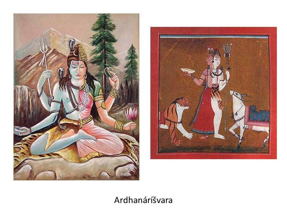 Párvatí (Horská):  dcera Himaláje – Šivova manželka, ve svých obměnách ztělesňuje různé podoby bohyně Déví, jež má (podobně jako Bohyně matka) dobrotivá i hrozivá vtělení: na jedné straně je mírumilovnou Satí, Umou či Párvatí, na druhé straně její hrůzný aspekt představují Kálí, Durgá a Čámundá  rozhodla se, že se stane manželkou Šivy, ale ten seděl pohroužen v hloubkovou meditaci a její krásy si nevšímal – a tak se ho rozhodla získat krutým pokáním:  v nepřístupných horách oděna jen do kůry stromů se 100 let živila čerstvým listím, 100 let listím spadaným a 100 let se postila, avšak marně – nakonec za Šivou přišel bůh lásky Kámu s prosbou, aby přemohl démona Táraku.