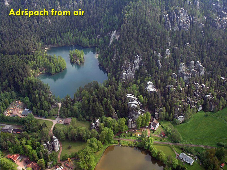 Adršpach from air Adršpach from air