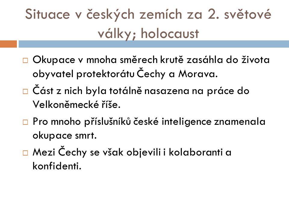 Situace v českých zemích za 2.