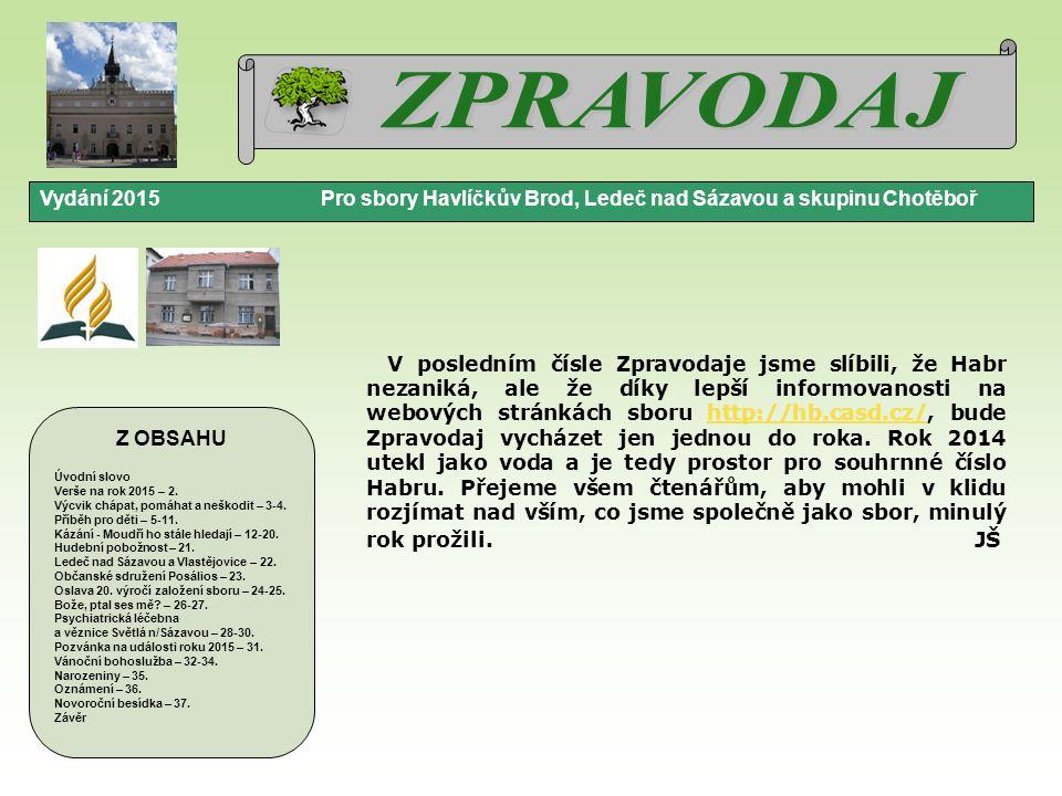 Vydání 2015 LEDEČ NAD SÁZAVOU A VLASTĚJOVICE strana 22.