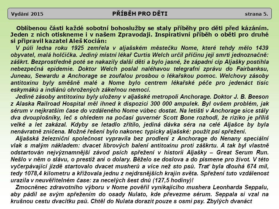 Vydání 2015 PŘÍBĚH PRO DĚTI strana 6.