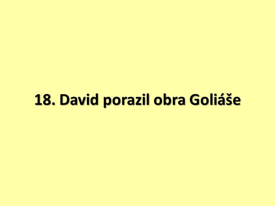 18. David porazil obra Goliáše