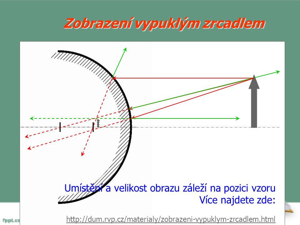 Zobrazení dutým zrcadlem Umístění a velikost obrazu záleží na pozici vzoru Více najdete zde: http://dum.rvp.cz/materialy/zobrazeni-dutym-zrcadlem.html