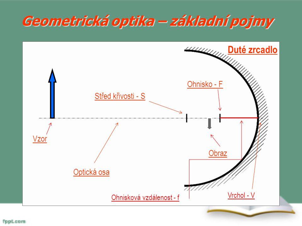 Povrch kulových zrcadel je tvořen: Vnitřkem kulové plochy – zrcadla dutá Vnějškem kulové plochy – zrcadla vypuklá I pro kulová zrcadla platí zákon odrazu – kolmicí dopadu je osa kulové plochy (prochází středem křivosti zrcadla) 6.