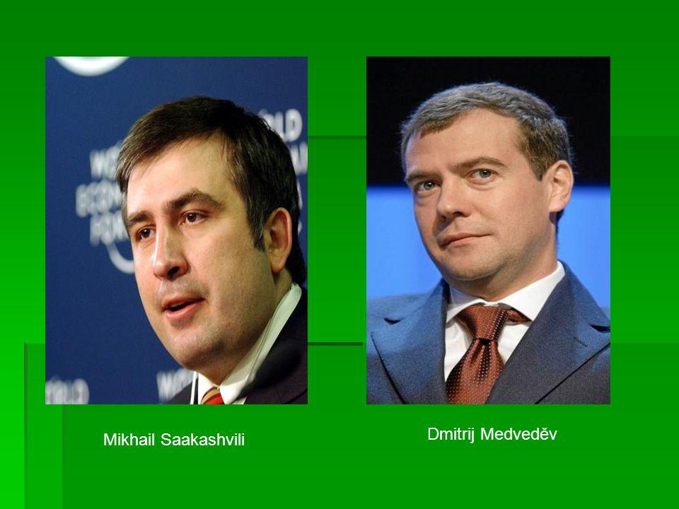 Mikhail Saakashvili Dmitrij Medveděv