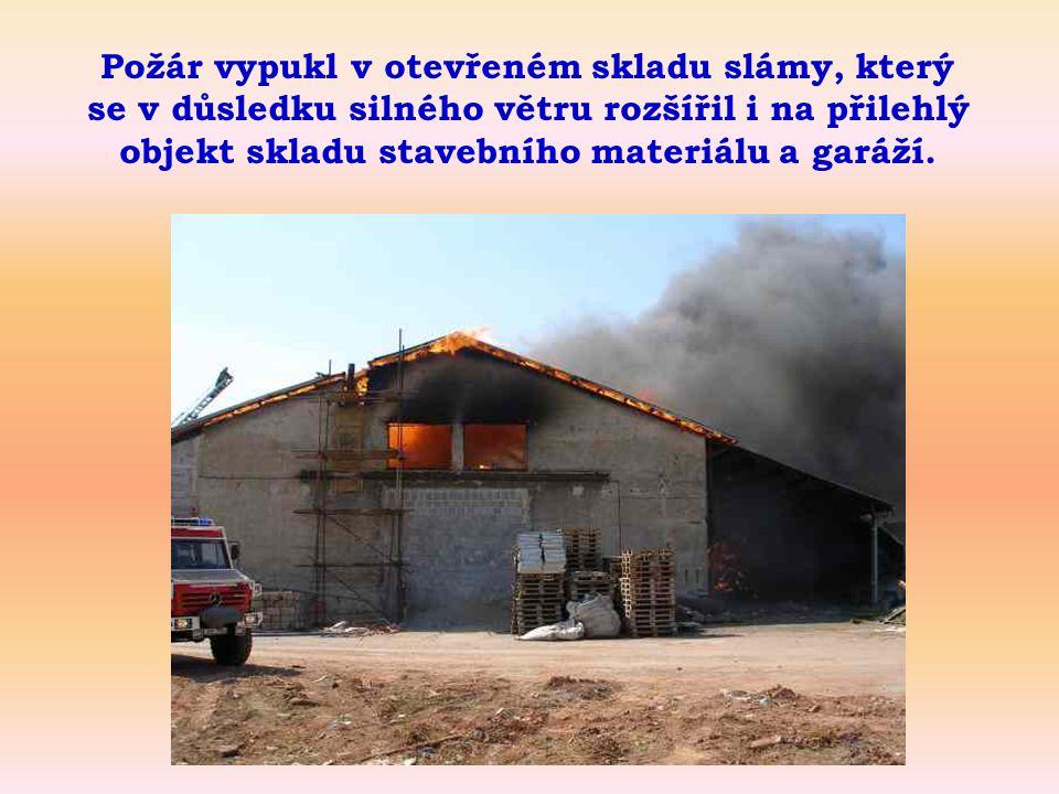 Sklad po lokalizaci požáru.