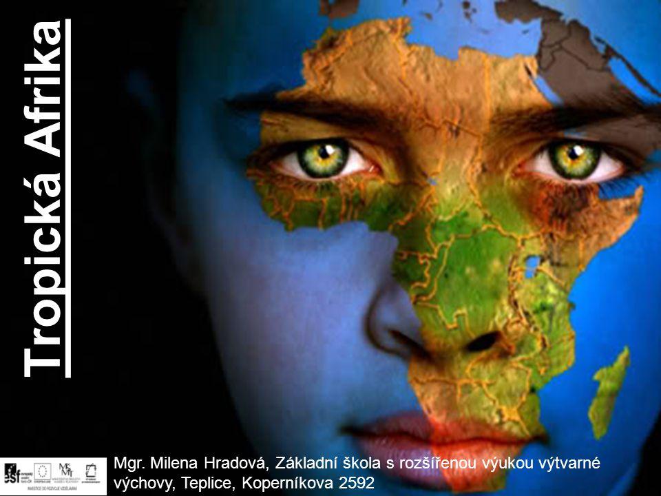Tropická Afrika Mgr. Milena Hradová, Základní škola s rozšířenou výukou výtvarné výchovy, Teplice, Koperníkova 2592