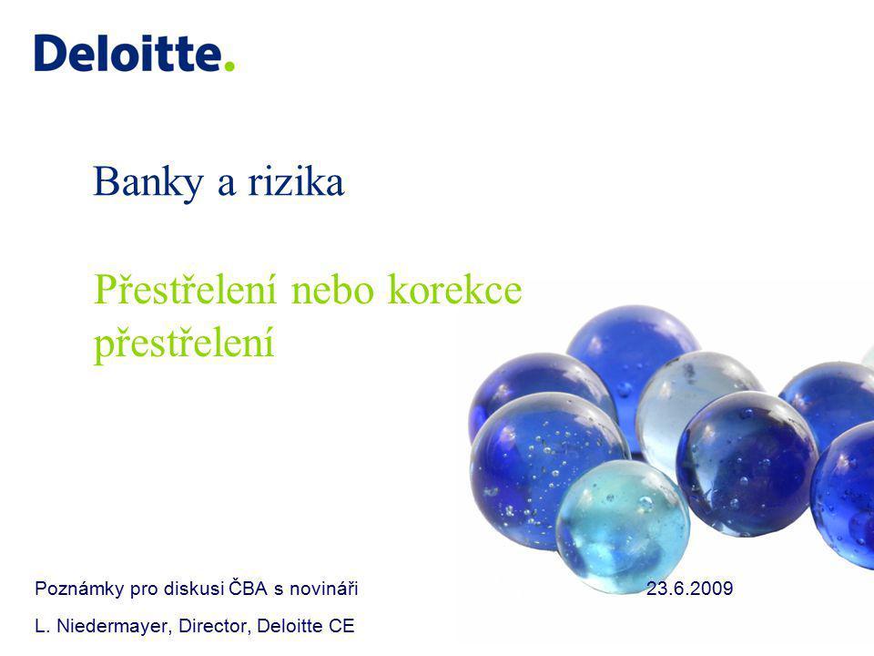 Banky a rizika Poznámky pro diskusi ČBA s novináři23.6.2009 L.