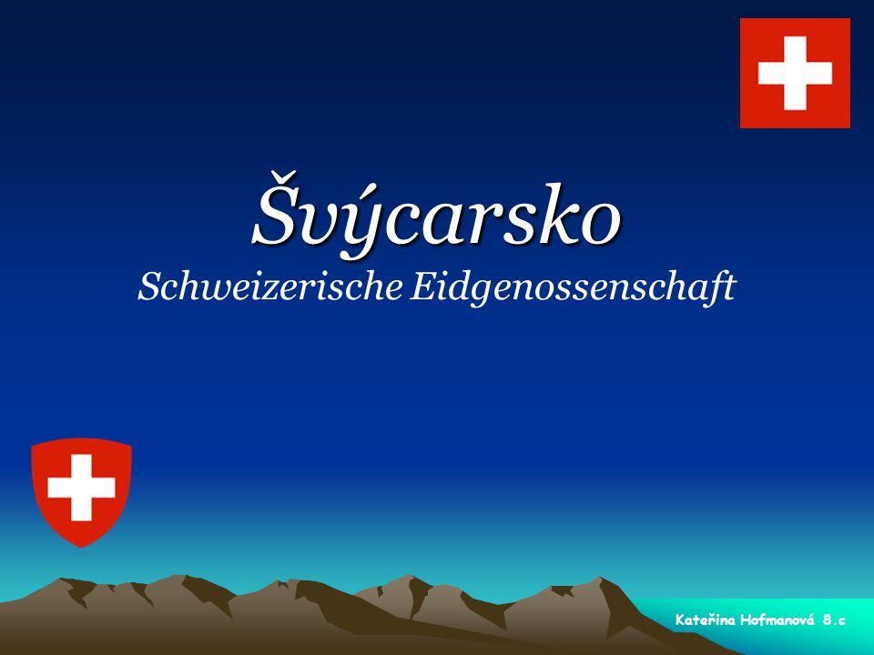 Švýcarsko oficiální název - český: Švýcarská konfederace oficiální název - český: Švýcarská konfederace státní zřízení: federativní republika státní zřízení: federativní republika měna: švýcarský frank (CHF) měna: švýcarský frank (CHF) mezinárodní pozn.